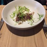 THE WHITE HORSE, JANUARY 2020, OXFORD BLUE CHEESE WITH RED WINE POACHED PEAR, PICKLED CELERY AND WALNUT DRESSING 005