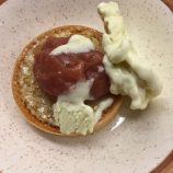 SAUCE SUPPER CLUB DINE AT HOME WITH TOM SHEPHERD, WARM TREACLE TART, FIG LEAF ICE CREAM, FIG AND APPLE COMPOTE 014